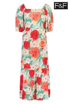F&F Kristine Floral Boho Dress
