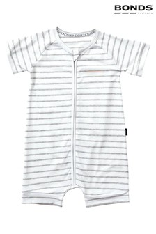 Bonds White New Grey Sleepsuit