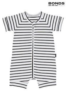 Bonds White Black/White Sleepsuit