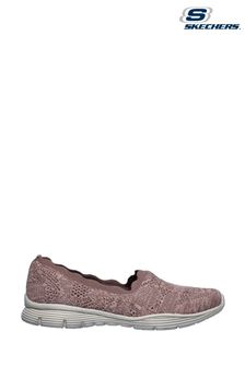 Skechers Purple Seager Bases Covered Slip-On Shoes