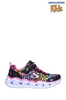Skechers Black Heart Lights Love Match Shoes