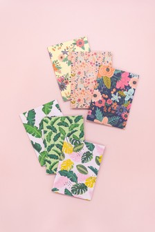 Set of 6 Crafter's Companion A5 Tropical & Floral Design Notebooks