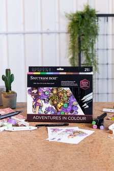 Crafter's Companion Set of 21 Alcohol Markers To Teach Advanced Colouring