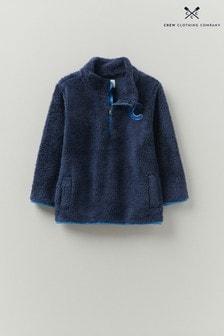 Crew Clothing Company Natural Teddy Half Zip Fleece
