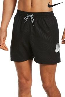 """Nike Palm Print 5"""" Swim Shorts"""