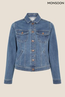 Monsoon Blue Denim Jacket With Organic Cotton