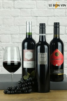 Trio of Shiraz Wines From Around The World by Le Bon Vin