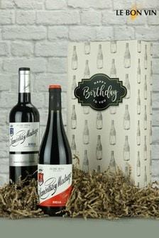 Happy Birthday Rioja Twin Wine Gift Box by Le Bon Vin