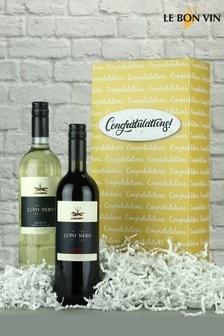 Congratulations Italian Wine Gift Box by Le Bon Vin