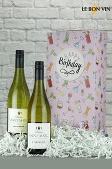 Happy Birthday French White Wine Gift Box by Le Bon Vin
