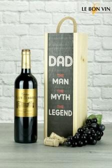Dad The Legend Bordeaux Wine Gift by Le Bon Vin