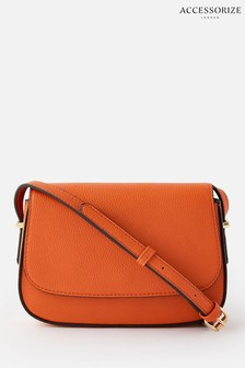 Accessorize Orange Ruby Saddle Cross Body Bag