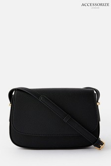Accessorize Black Ruby Saddle Cross Body Bag