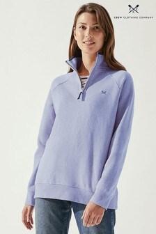 Crew Clothing Company Natural Half Zip Sweatshirt