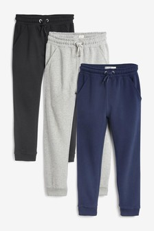 3 Pack Soft Jersey Joggers (3-16yrs)