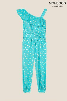 Monsoon Watermelon Foil Jumpsuit in Organic Cotton
