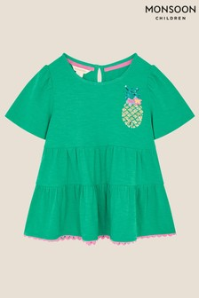 Monsoon Sequin Pineapple Tiered Top