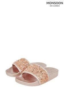 Monsoon Pink Dazzle Sequin Sliders
