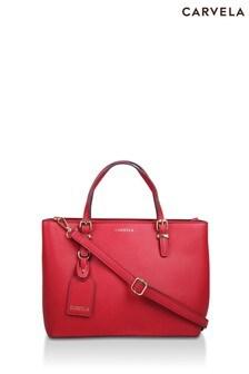 Carvl Red Mini Hooper Slouch Tote Bag