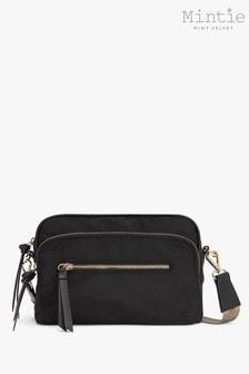 Mint Velvet Black Nylon Cross Body Bag