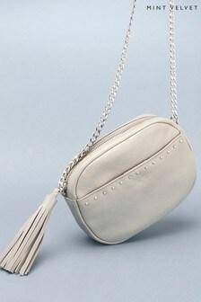 Mint Velvet Tilly Grey Leather Camera Bag
