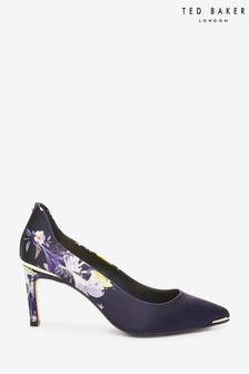 Ted Baker Eriino Navy Mid Heel Court Shoes