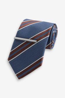 Pattern Tie With Tie Clip