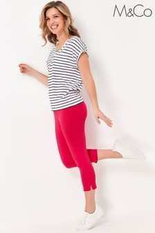 M&Co Pink Cropped Bengaline Trousers