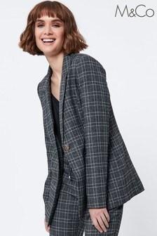 M&Co Grey Check Blazer
