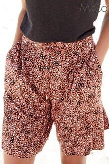M&Co Animal Leopard Print Shorts