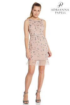 Hailey Logan by Adrianna Papell Pink Beaded Cocktail Dress