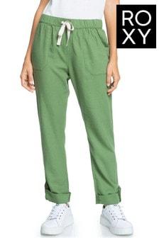 Roxy Green On The Seashore Linen Cargo Trousers