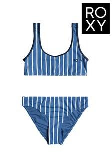 Roxy Blue Perfect Surf Time Bra Bikini Set