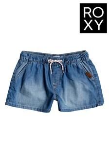 Roxy Blue Honey Sunday Denim Shorts