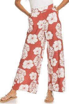 Roxy Pink Midnight Avenue Viscose Trousers