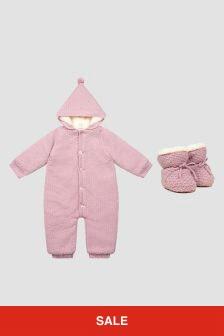 Paz Rodriguez Baby Girls Pink Snowsuit