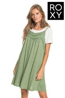 Roxy Green Rare Feeling Strappy Dress