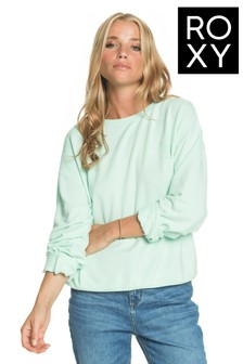 Roxy Green Surfing By Moonlight Super Soft Sweatshirt