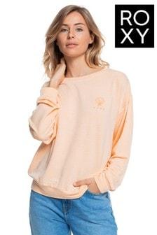 Roxy Orange Surfing By Moonlight Super Soft Sweatshirt