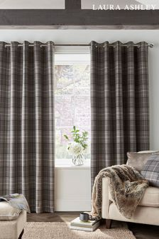 Pale Charcoal Grey Alfriston Black Out Eyelet Blackout/Thermal Curtains
