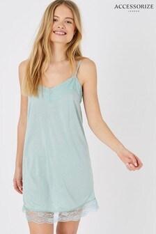 Accessorize Lace Trim Slip Dress