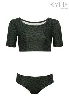 Kylie Green Animal Print Tankini