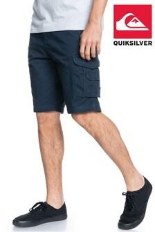 "Quiksilver Blue Crucial Battle 21"" Cargo Shorts"