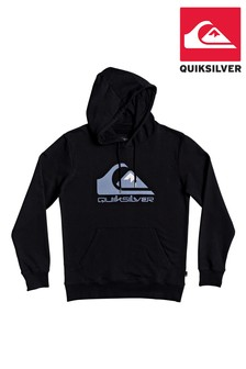 Quiksilver Black Comp Logo Screen Fleece Top
