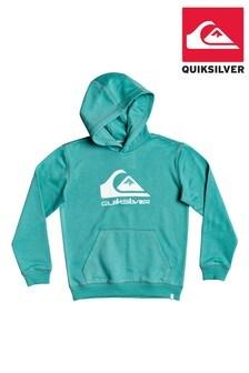 Quiksilver Blue Big Logo Fleece Top