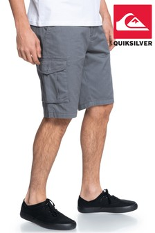 "Quiksilver Grey Crucial Battle 21"" Cargo Shorts"