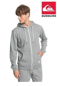 Quiksilver Grey Essentials Organic Zip-Up Hoodie