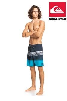 "Quiksilver Black Surfsilk Panel 18"" Board Shorts"