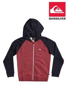 Quiksilver Red Easy Day Zip Up Hoodie