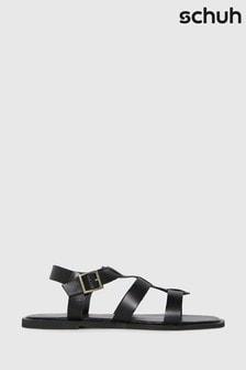 Schuh Black Tyrion Leather Gladiator Sandals